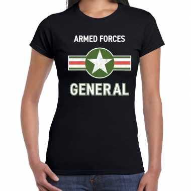 Landmacht / armed forces verkleed t shirt zwart voor dames