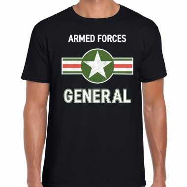Landmacht / armed forces verkleed t shirt zwart voor heren